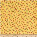 Flannel Tossed Ditsy Floral Yellow