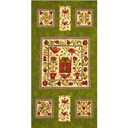 Moda Round Robin Panel Fiddlehead Green