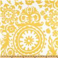 Premier Prints Suzani Slub Yellow/White