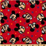Mickey Flannel Out To Play Star Portraits Red