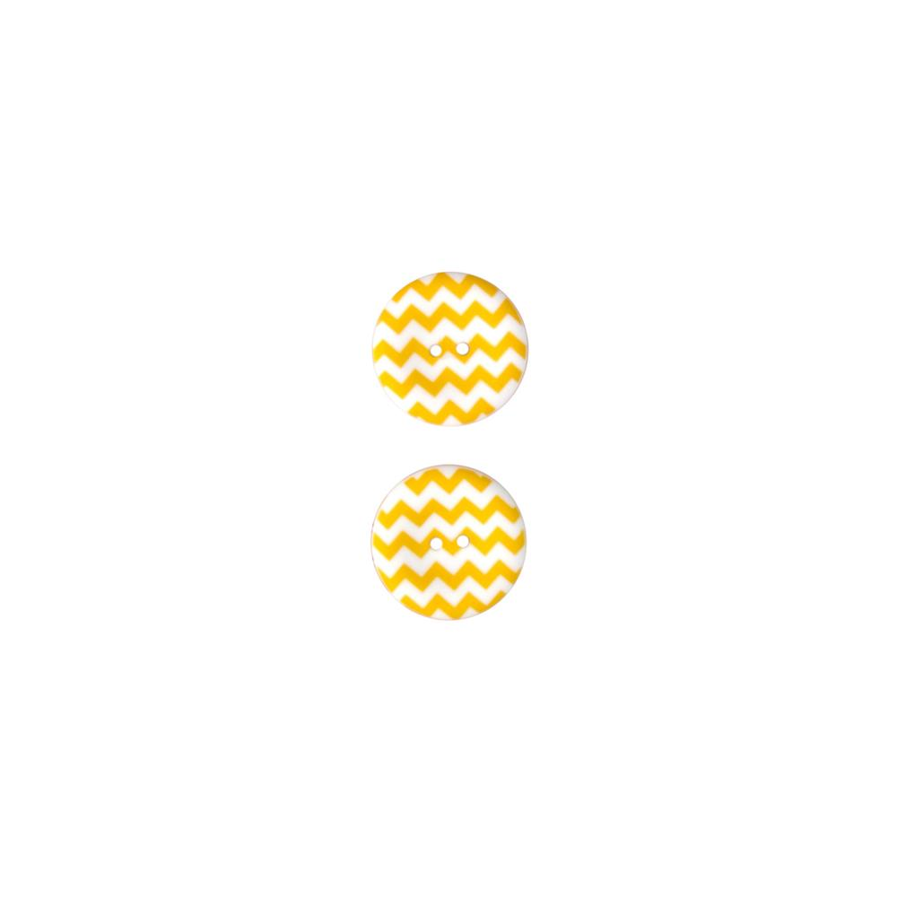 Riley Blake Sew Together 1 1/2 Matte Button Chevron Yellow