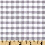 Riley Blake Medium Gingham Flannel Grey