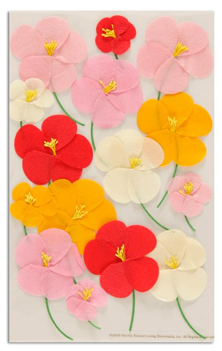 Martha Stewart Crafts Stickers Poppy Pink/Red/Orange