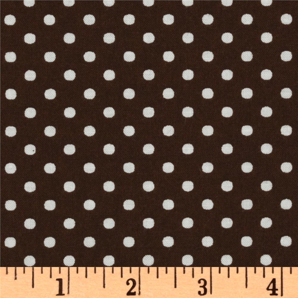 Crazy for Dots & Stripes Dottie Brown/White