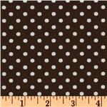 FC-719 Crazy for Dots & Stripes Dottie Brown/White