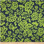 0291469 Caymans Indoor/Outdoor Flower Show Navy/Lime