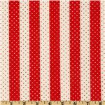 Moda Vintage Modern Dot Stripe Candy Apple