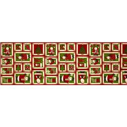 Ho Ho Holiday Christmas Frames Motif Red/Multi