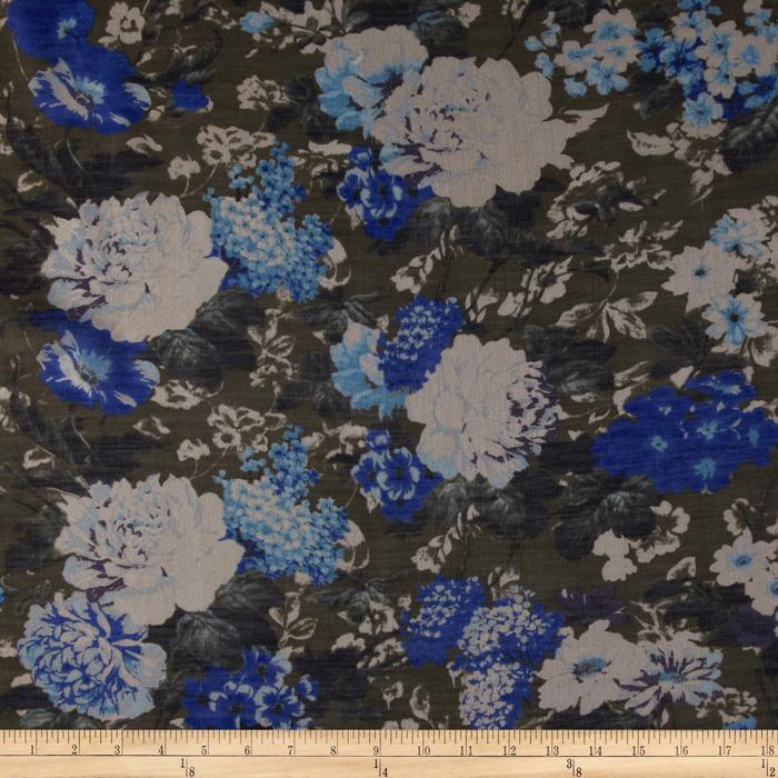 Jonquil Shirting Floral Grey/Royal