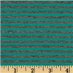 0280661 Designer Stretch Rayon Jersey Knit Mini Stripes Teal