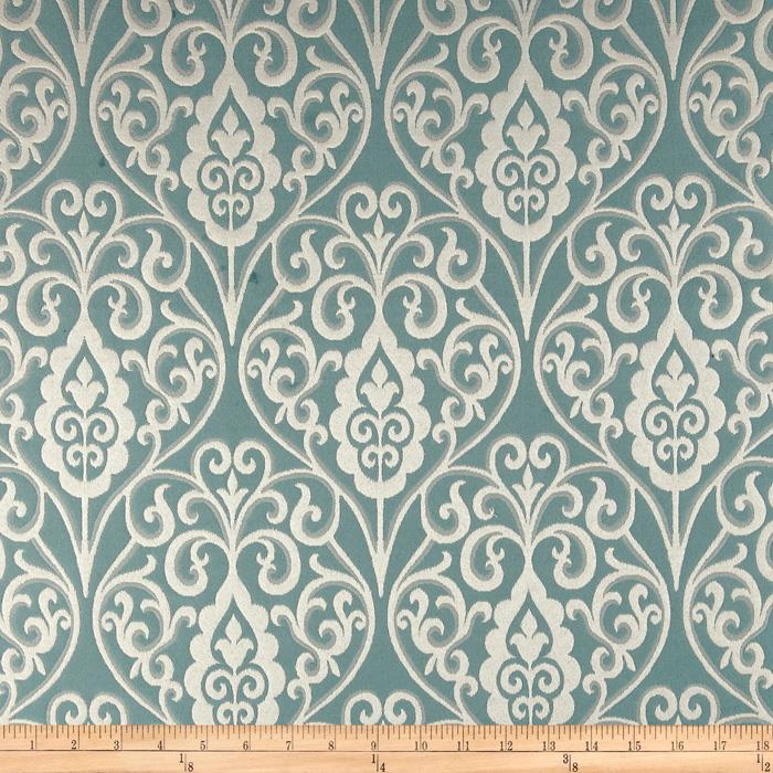 Waverly Williamsburg Bristol Scroll Jacquard Mist