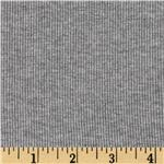Designer Cotton Rib Knit Heather Grey