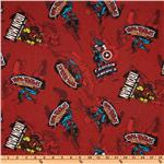 Marvel Flannel Heroes Out of The Blue Red
