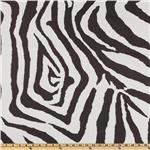 Premier Prints Zebra Slub Texture Charcoal