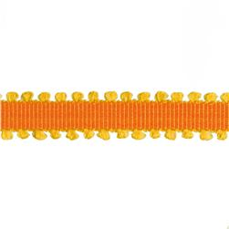 "1/4"" Grosgrain Picot Edge Ribbon Orange/Yellow"