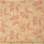 French Twist Large Scoll Cream/Pink