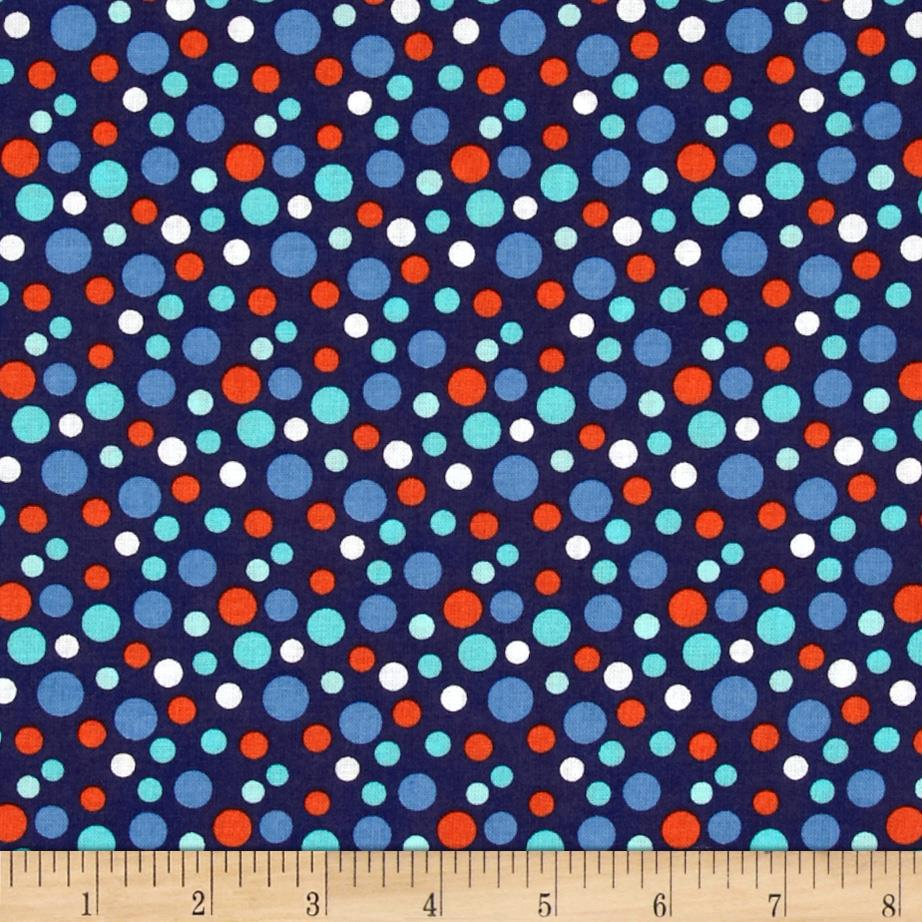 Little Circus Confetti Dots Navy