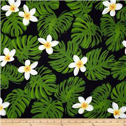 Tropical Breeze Monstera Leaves Black