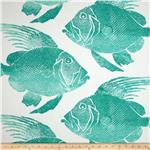 0276430 P Kaufmann Indoor/Outdoor Fish Turquoise