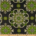 UN-906 Waverly Sun N Shade Quilted Garden Crest Onyx