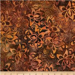 Moda Color Crush Batiks Packed Floral Bronze