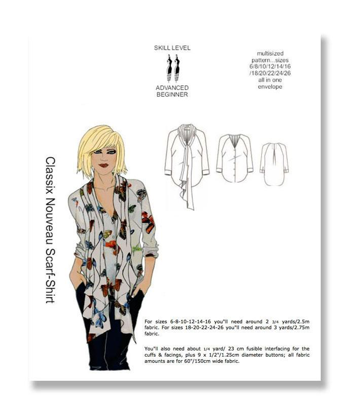 Hot Patterns Classix Nouveau Scarf Shirt Pattern