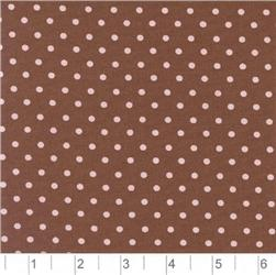 Pimatex Cotton Dots Brown & Pink