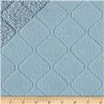 Minky Cuddle Diamond Quilted Light Blue