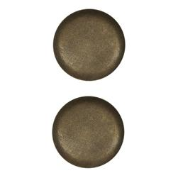 Metalized Button 1'' Feng Shui Antique Brass