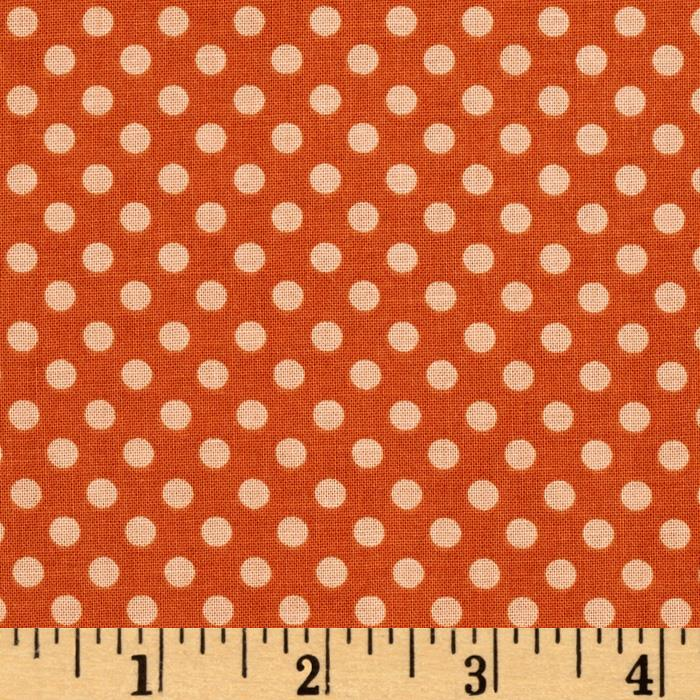 Riley Blake Hooty Hoot Returns Hoot Dots Orange