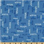215750 Moda Spa Words Alone Spa Blue