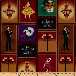 Phantom of the Opera Masquerade Collage Red/Gold