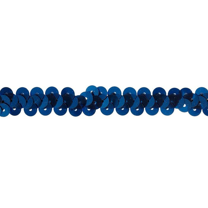 3/8&quot; Stretch Metallic Sequin Trim Royal Blue