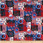 0291144 Patriotic Patchwork Red/White/Blue