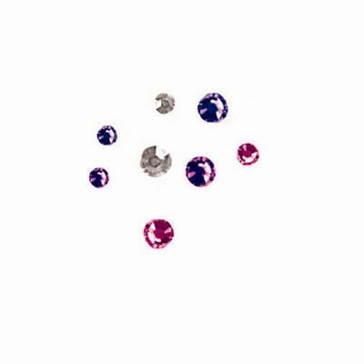 Purple Mix Crystal Compact 384/pcs