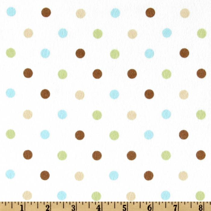 Cozy Cotton Flannel Polka Dot Chocolate