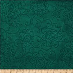 Minky Cuddle Spice Market Embossed Flower Willow