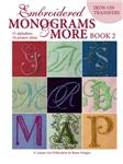 NR-523 Leisure Arts Embroidered Monograms 2 Embroidery Transfers Book