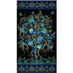 0279853 Tree of Life Metallic Eden Panel Black