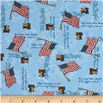 0273372 America Liberty Bell Flags Blue