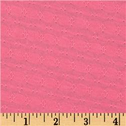 Cotton Stretch Pointelle Knit Pink