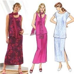 Kwik Sew Misses Skirts, Tops & Scarf Pattern