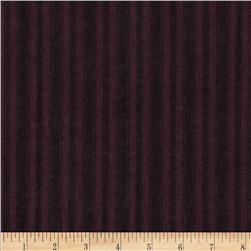 Moda Wool & Needle Flannel II Ticking Stripe Plum
