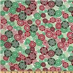 FO-022 Merry Christmas Snowflakes Red/Green