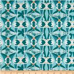 Home Decor Cotton Twill Stepping Stones Teal