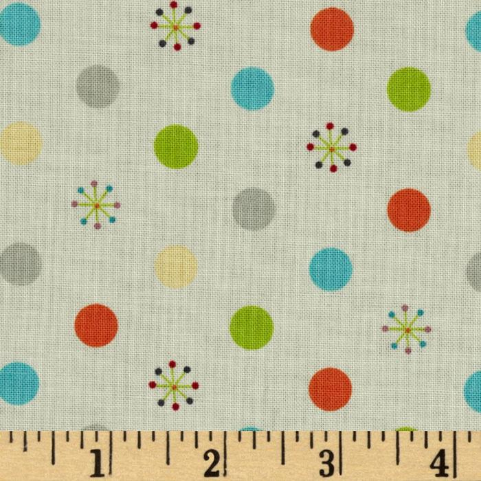 Riley Blake Life In The Jungle Dots Grey