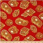 Breakfast Club Waffles Red
