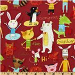 FK-571 Kokka Animal Party Salutations Red