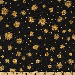 Hoffman Celebration Snowflakes Metallic Black