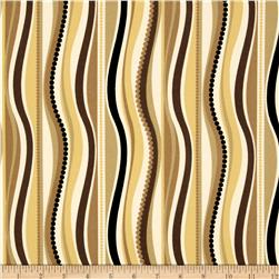Terrasol Indoor/Outdoor Wave Black/Gold